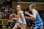 GRAND RAPIDS, MI - MARCH 18: Hannah Hackley (20) of Amherst College drives toward the basket during the Division III Women's Basketball Championship held at Van Noord Arena on March 18, 2017 in Grand Rapids, Michigan. Amherst College defeated Tufts University 52-29 for the national title. (Photo by Brady Kenniston/NCAA Photos via Getty Images)
