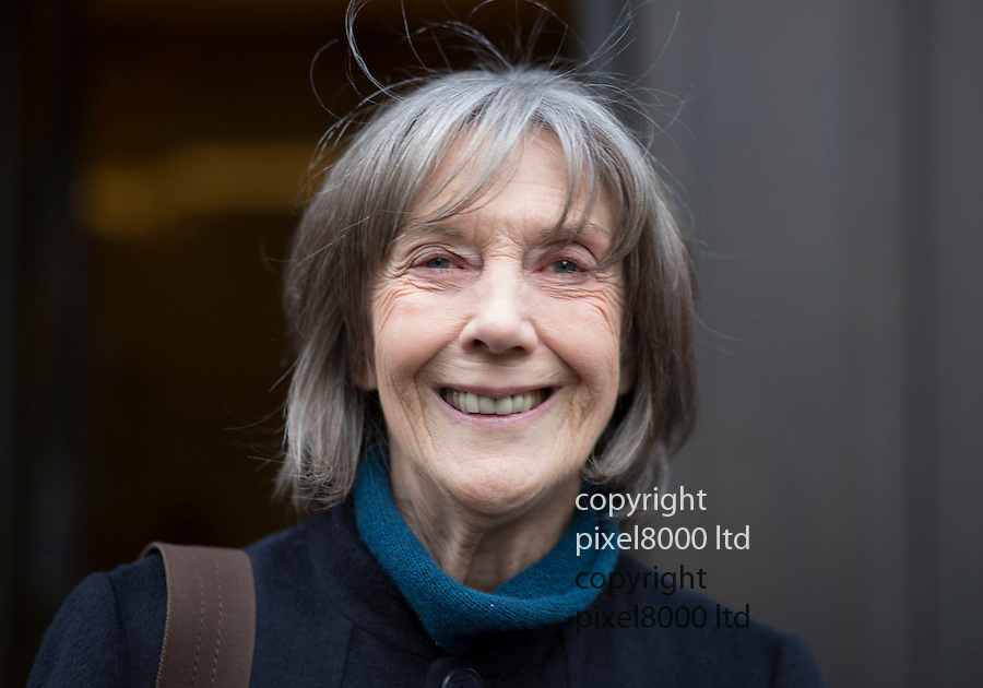 Pic shows: Actress Eileen Atkins outside BBC studios in London today.<br /> <br /> <br /> <br /> <br /> <br /> <br /> Pic by Gavin Rodgers/Pixel 8000 Ltd