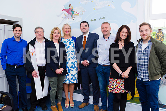 Pictured at Curraheen National School's Open Day om Weds 7th June<br /> L-R Jerry Mulvihill, Fr. Kieron O'Sullivan, Catriona O'Shea, Claire Doyle, Brendan Griffin, Damien Quigg, Nikki Roberts, Darren O'Sullivan.