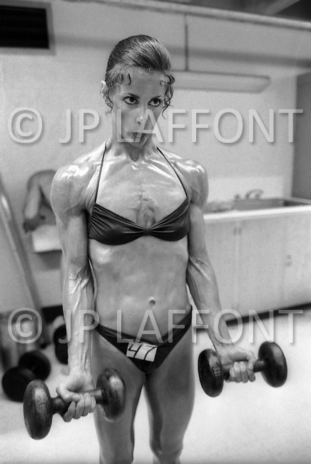June 20th 1981, New York, USA. <br /> Valerie Mayers, Ms. Empire State competition.