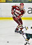 10 February 2012: Boston College Eagles defenseman Brian Dumoulin, a Junior from Biddeford, ME, in action against the University of Vermont Catamounts at Gutterson Fieldhouse in Burlington, Vermont. The Eagles defeated the Catamounts 6-1 in their Hockey East matchup. Mandatory Credit: Ed Wolfstein Photo