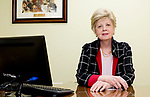 MIDDLEBURY, CT-122618JS32- Dr. Paula Moynahan in her offices in Middlebury on Wednesday. A growing number of American men are having cosmetic surgery to improve their looks and increase their confidence. <br /> Jim Shannon Republican American