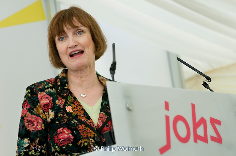 Olympic Minister Tessa Jowell at the launch of the Plant Training Centre on the Olympic Park site in Stratford.