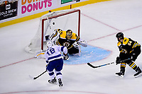 May 2, 2018: Tampa Bay Lightning left wing Ondrej Palat (18) scores a goal against Boston Bruins goaltender Tuukka Rask (40) during game three of the second round of the National Hockey League's Eastern Conference Stanley Cup playoffs between the Tampa Bay Lightning and the Boston Bruins held at TD Garden, in Boston, Mass. Tampa Bay defeats Boston 4-1. Eric Canha/CSM