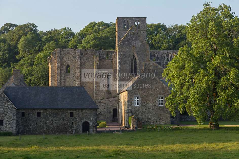 France, Manche (50), Cotentin, Hambye: Abbaye de Hambye, L'abbaye Notre-Dame de Hambye est une abbaye bénédictine // France, Manche, Cotentin, Hambye: Hambye abbey is a Benedictine medieval monastery located in the countryside of Normandy
