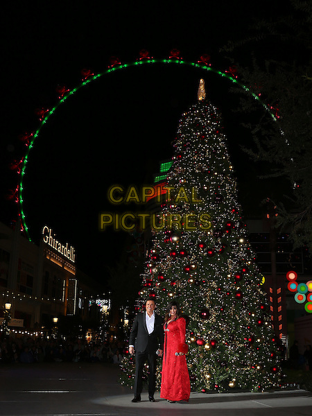 19 November 2016 - Las Vegas, NV -  Donny Osmond, Marie Osmond.  Donny and Marie Osmond host annual tree lighting celebration at The LINQ Promenade.   <br /> CAP/ADM/MJT<br /> &copy; MJT/ADM/Capital Pictures