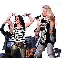 Lidia Avila,Erika Zaba durante su presentacion en el concierto Exa 2013 en Leon Guanajuato.<br /> (*Foto:TiradorTercero/NortePhoto*) ...<br /> ,OV7
