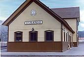 Durango depot north end.<br /> D&amp;RGW  Durango, CO