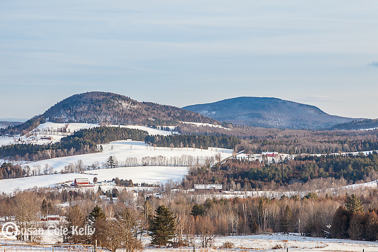 Farms on Harvey's Mountain in Peacham, Vermont, USA
