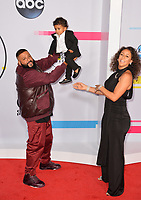 DJ Khaled, Asahd Tuck Khaled &amp; Nicole Tuck at the 2017 American Music Awards at the Microsoft Theatre LA Live, Los Angeles, USA 19 Nov. 2017<br /> Picture: Paul Smith/Featureflash/SilverHub 0208 004 5359 sales@silverhubmedia.com
