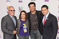 MIAMI, FL - DECEMBER 14: Emilio Estefan, Gloria Estefan, Chayanne and Cesar Conde president of Univision at Teleton USA at Univision Studios in Miami, Florida. December 14, 2012. Credit: Majo Grossi/MediaPunch Inc. /NortePhoto