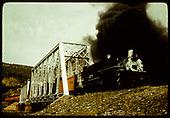 #499 K-37 crossing double steel truss bridge (Durango - Chama?)<br /> D&amp;RGW  Durango area, CO