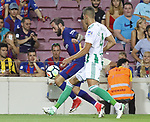 Aleix Vidal in action during La Liga game between FC Barcelona v Betis at Camp Nou