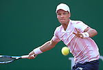 Tomas Berdych (CZE) defeats Dmitry Tursunov (RUS) 7-5, 6-4 at the Monte Carlo Rolex Masters tournament in Monte Carlo, Monaco on April 17, 2014.