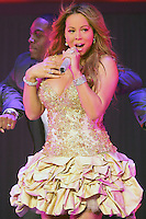 02/23/10 Universal City, CA: Singer / songwriter Mariah Carey performs during the 1st night of her concerts at the Gibson Amphitheatre.