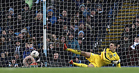 Burnley's Nick Pope is beaten for the second goal by Manchester City's Bernardo Silva (not pictured)<br /> <br /> Photographer Rich Linley/CameraSport<br /> <br /> Emirates FA Cup Fourth Round - Manchester City v Burnley - Saturday 26th January 2019 - The Etihad - Manchester<br />  <br /> World Copyright © 2019 CameraSport. All rights reserved. 43 Linden Ave. Countesthorpe. Leicester. England. LE8 5PG - Tel: +44 (0) 116 277 4147 - admin@camerasport.com - www.camerasport.com