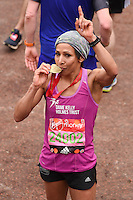 Dame Kelly Holmes<br /> finishes the 2016 London Marathon, The Mall, London<br /> <br /> <br /> ©Ash Knotek  D3108 24/04/2016