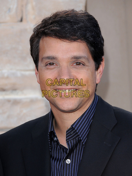 RALPH MACCHIO.L.A. Premiere of The Karate Kid held at The Mann Village Theatre in Westwood, California, USA..June 7th, 2010 .headshot portrait blue black.CAP/RKE/DVS.©DVS/RockinExposures/Capital Pictures.