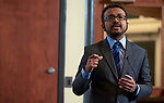 """Sharif Wahab, a Masters Student studying Enviornmental Studies in the Voinovich School of Leadership and Public Affairs presents his thesis entitled """"Effectiveness of an Online Portal for Climate Adaptation Knowledge Diffusion""""."""