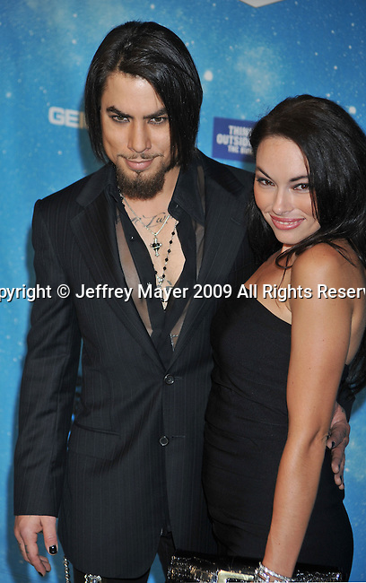 LOS ANGELES, CA. - October 17: Dave Navarro (L) and guest arrive at Spike TV's Scream 2009 held at the Greek Theatre on October 17, 2009 in Los Angeles, California.