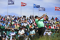 Jhonattan Vegas (VEN) tees off the 1st tee to start his match during Thursday's Round 1 of the 117th U.S. Open Championship 2017 held at Erin Hills, Erin, Wisconsin, USA. 15th June 2017.<br /> Picture: Eoin Clarke | Golffile<br /> <br /> <br /> All photos usage must carry mandatory copyright credit (&copy; Golffile | Eoin Clarke)