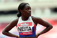 Daryll Neita of Great Britain competes in the womenís 100 metres during the Muller Anniversary Games at The London Stadium on 9th July 2017