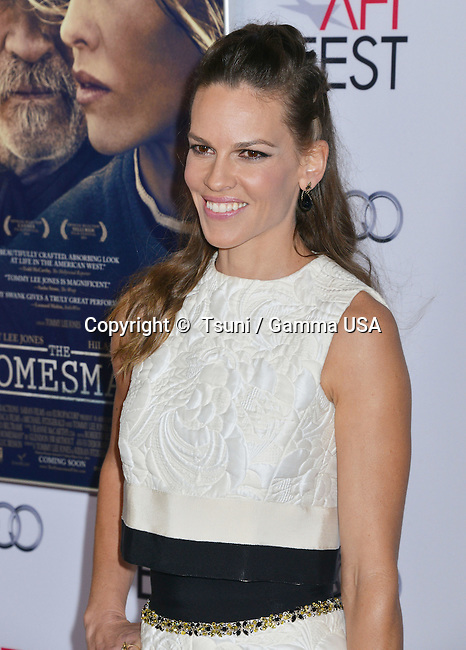 Hilary Swank 020  at The Homesman Premiere at the Dolby Theatre on Nov. 11, 2014 in Los Angeles.