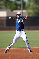 Milwaukee Brewers Jake Gatewood (22) during an instructional league game against the Cleveland Indians on October 8, 2015 at the Maryvale Baseball Complex in Maryvale, Arizona.  (Mike Janes/Four Seam Images)