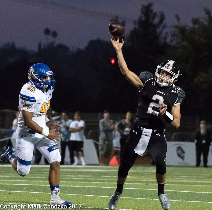 JSerra Catholic High School vs. Bishop Montgomery High School football action.