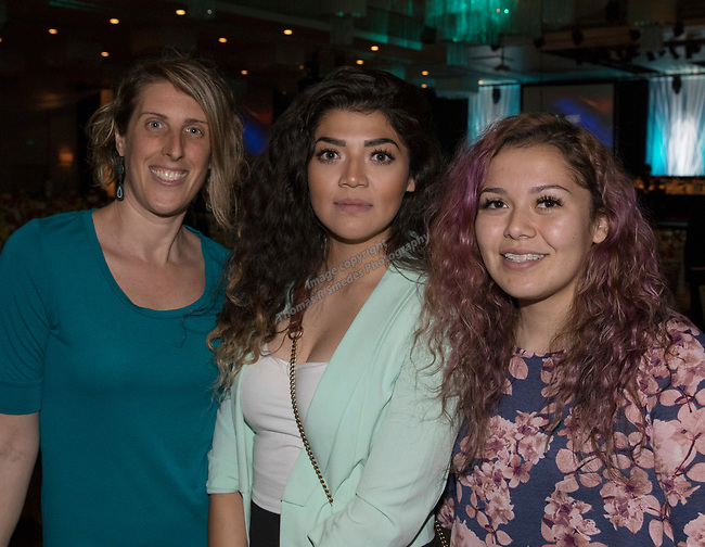 Allison Smith, Jennfer Ibarria and Ana Vazquez during the 26th Annual Salute to Women of Achievement Luncheon held at the Grand Sierra Resort on Thursday, May 25, 2017.