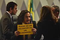 BRASÍLIA, DF, 21.02.2017 – SABATINA-SENADO – O deputado, Jean Willis durante sabatina na manhã desta terça-feira, 21, na CCJ do Senado. (Foto: Ricardo Botelho/Brazil Photo Press)
