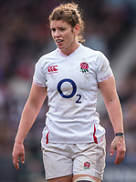 England Women's Sarah Hunter <br /> <br /> Photographer Bob Bradford/CameraSport<br /> <br /> 2020 Women's Six Nations Championship - England v Wales - Saturday 7th March 2020 - The Stoop - London<br /> <br /> World Copyright © 2020 CameraSport. All rights reserved. 43 Linden Ave. Countesthorpe. Leicester. England. LE8 5PG - Tel: +44 (0) 116 277 4147 - admin@camerasport.com - www.camerasport.com