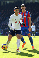 Erik Lamela of Tottenham Hotspur and Alexander Sorloth of Crystal Palace during Crystal Palace vs Tottenham Hotspur, Premier League Football at Selhurst Park on 25th February 2018