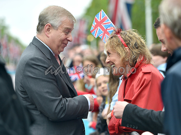 12 June 2016 - London, England - Prince Andrew with Dame Esther Rantzen. The Patrons Lunch 2016 during celebrations for the Queens 90th Birthday held at The Mall London. Photo Credit: ALPR/AdMedia