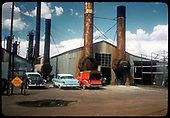 View of sheds and refinery in Salida.<br /> D&amp;RGW  Salida, CO