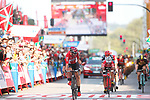Thomas De Gendt (BEL) Lotto-Soudal wins Stage 19 of the 2017 La Vuelta, running 149.7km from Caso. Parque Natural de Redes to Gij&oacute;n, Spain. 8th September 2017.<br /> Picture: Unipublic/&copy;photogomezsport | Cyclefile<br /> <br /> <br /> All photos usage must carry mandatory copyright credit (&copy; Cyclefile | Unipublic/&copy;photogomezsport)