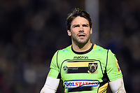 Ben Foden of Northampton Saints looks on during a break in play. Aviva Premiership match, between Bath Rugby and Northampton Saints on February 9, 2018 at the Recreation Ground in Bath, England. Photo by: Patrick Khachfe / Onside Images