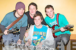 BATTLE: We Sound Unsure Band who took part in the Battle of the Bands Semi Final in the Brandon Hotel, Tralee on Sunday at the KDYS Youth Day. Timmy Keane, Martin Murphy, Jamie and Conor Hooper..