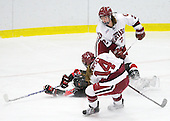 Josephine Pucci (Harvard - 2), Lindsay Berman (NU - 13), Jillian Dempsey (Harvard - 14) - The Harvard University Crimson defeated the Northeastern University Huskies 1-0 to win the 2010 Beanpot on Tuesday, February 9, 2010, at the Bright Hockey Center in Cambridge, Massachusetts.