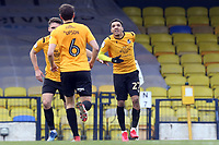 Jayden Mitchell-Lawson of Bristol Rovers celebrates scoring the Gas first goal during Southend United vs Bristol Rovers, Sky Bet EFL League 1 Football at Roots Hall on 7th March 2020