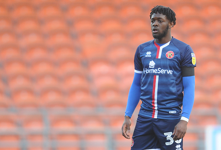 Walsall's Aramide Oteh<br /> <br /> Photographer Kevin Barnes/CameraSport<br /> <br /> The EFL Sky Bet League One - Blackpool v Walsall - Saturday 9th February 2019 - Bloomfield Road - Blackpool<br /> <br /> World Copyright &copy; 2019 CameraSport. All rights reserved. 43 Linden Ave. Countesthorpe. Leicester. England. LE8 5PG - Tel: +44 (0) 116 277 4147 - admin@camerasport.com - www.camerasport.com
