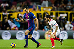 Sergio Busquets Burgos of FC Barcelona (L) fights for the ball with Ever Maximiliano Banega of Sevilla FC (R) during the La Liga 2017-18 match between FC Barcelona and Sevilla FC at Camp Nou on November 04 2017 in Barcelona, Spain. Photo by Vicens Gimenez / Power Sport Images