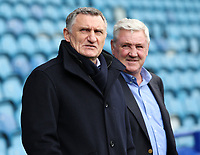 Blackburn Rovers manager Tony Mowbray  (front) and Sheffield Wednesday manager Steve Bruce look on before kick off<br /> <br /> Photographer David Shipman/CameraSport<br /> <br /> The EFL Sky Bet Championship - Sheffield Wednesday v Blackburn Rovers - Saturday 16th March 2019 - Hillsborough - Sheffield<br /> <br /> World Copyright &copy; 2019 CameraSport. All rights reserved. 43 Linden Ave. Countesthorpe. Leicester. England. LE8 5PG - Tel: +44 (0) 116 277 4147 - admin@camerasport.com - www.camerasport.com