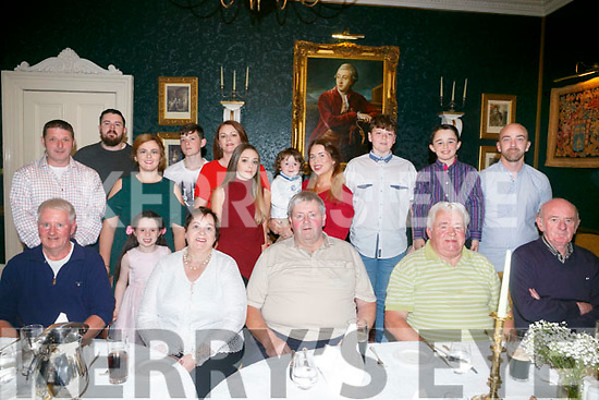 Maureen Walsh, Castleisland celebrates her  70th Birthday with family at Ballyseede Castle on Sunday