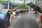 15.02.2020, PreZero-Arena, Sinsheim, GER, 1. FBL, TSG 1899 Hoffenheim vs. VFL Wolfsburg, <br /> <br /> DFL REGULATIONS PROHIBIT ANY USE OF PHOTOGRAPHS AS IMAGE SEQUENCES AND/OR QUASI-VIDEO.<br /> <br /> im Bild: Videobeweis Schiedsrichter Soeren Storks<br /> <br /> Foto © nordphoto / Fabisch