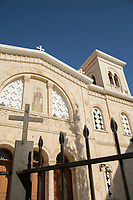 Architecture of church captured from low angle, Paphos, Cyprus