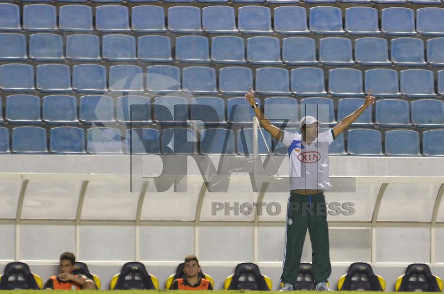 BARUERI, SP, 17 DE JANEIRO DE 2013 - COPA SÃO PAULO DE FUTEBOL JUNIOR - PALMEIRAS x VELO CLUBE: Narciso durante partida Palmeiras x Velo Clube, válida pelas oitavas de final da Copa São Paulo de Futebol Junior, disputado na Arena Barueri. FOTO: LEVI BIANCO - BRAZIL PHOTO PRESS