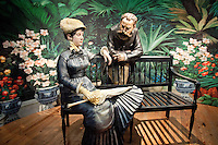 "Step inside life-size three-dimensional scenes depicted in 12 impressionistic paintings from 19th century masterpieces... created by part-time Key West resident & the internationally acclaimed, bronze scuptor J. Seward Johnson...  the exhibition, ""Beyond the Frame, Imprssionism Revisted,"" at the Key West Museum of Art & History at the Custom House, 281 Front St., Key West, Florida, USA, Feb. 22, 2011... Photo by Debi PIttman Wilkey"