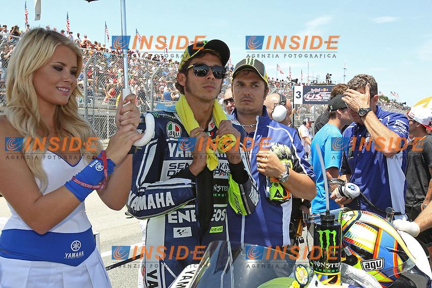 Valentino Rossi - Yamaha factory team<br /> 21-07-2013 Laguna Seca (USA)<br /> Motogp world championship<br /> Photo Semedia/Insidefoto<br /> ITALY ONLY