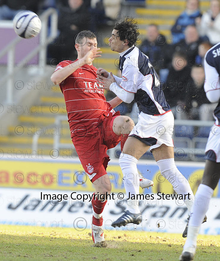 20/02/2010  Copyright  Pic : James Stewart.sct_jspa19_falkirk_v_aberdeen  .::  VITOR LIMA AND ZANDER DIAMOND COLLIDE ::.James Stewart Photography 19 Carronlea Drive, Falkirk. FK2 8DN      Vat Reg No. 607 6932 25.Telephone      : +44 (0)1324 570291 .Mobile              : +44 (0)7721 416997.E-mail  :  jim@jspa.co.uk.If you require further information then contact Jim Stewart on any of the numbers above.........